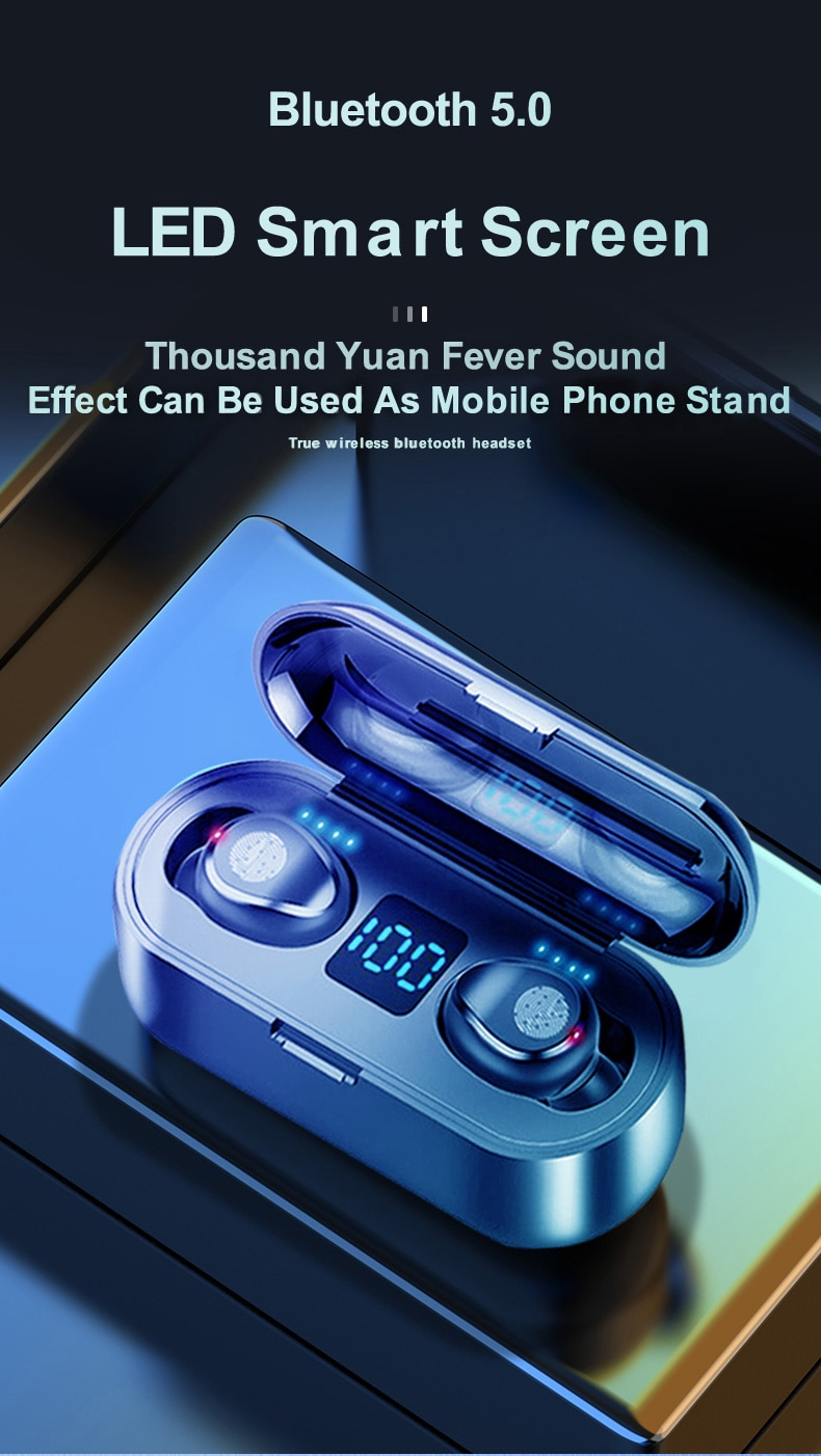 Wireless V5.0 Bluetooth Earphone with HD Stereo