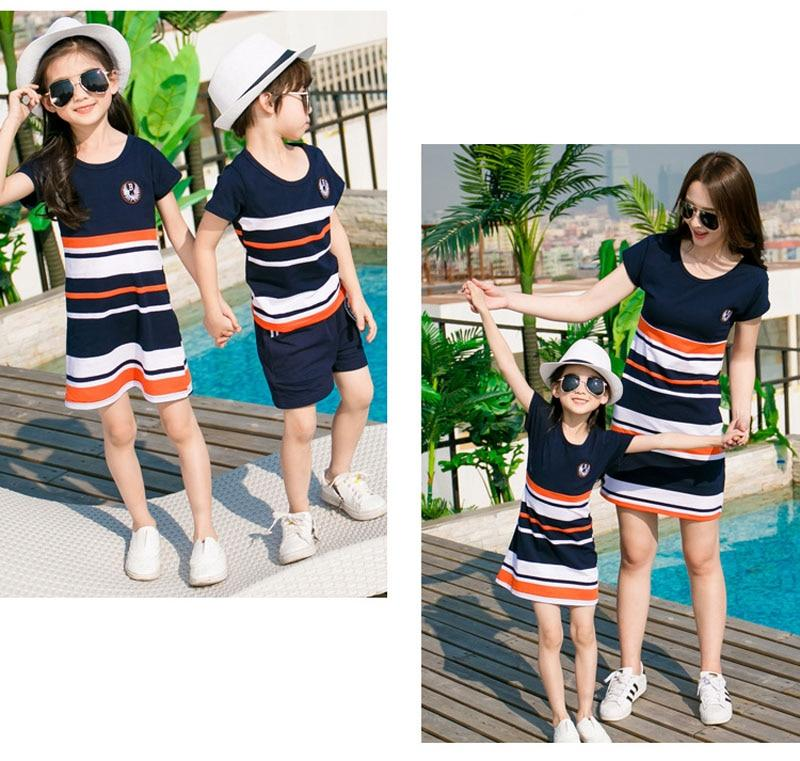 Summer Matching Striped Outfits