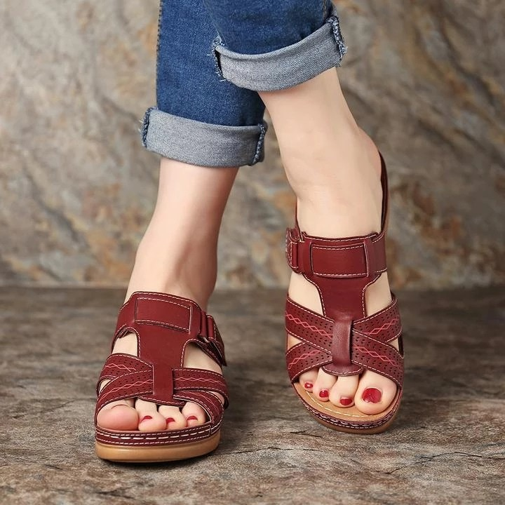 Women's Open Toe Wedge Sandals