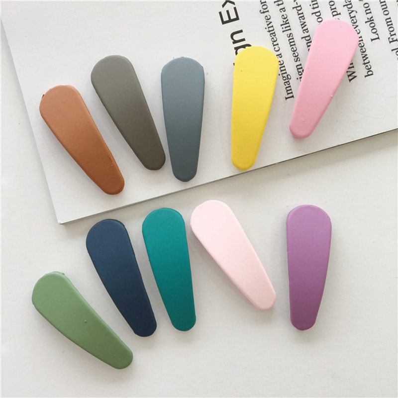 Candy Color Geometric Shape Matte Hairpin