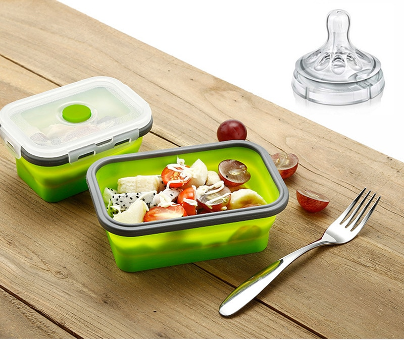 Silicone Collapsible Portable Food Container
