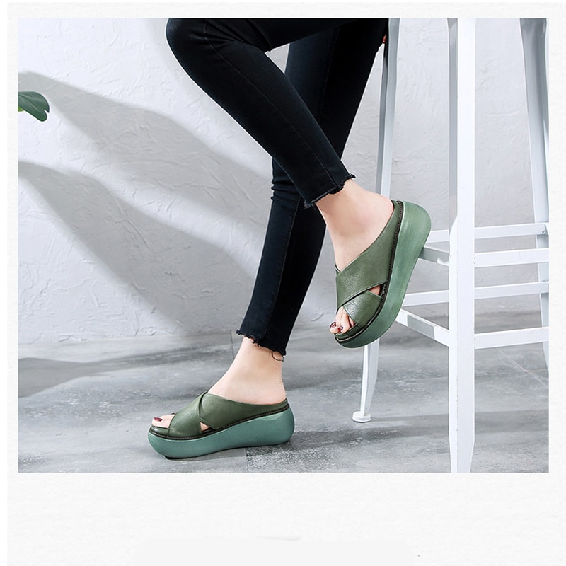 Women's High Solid Color Slippers