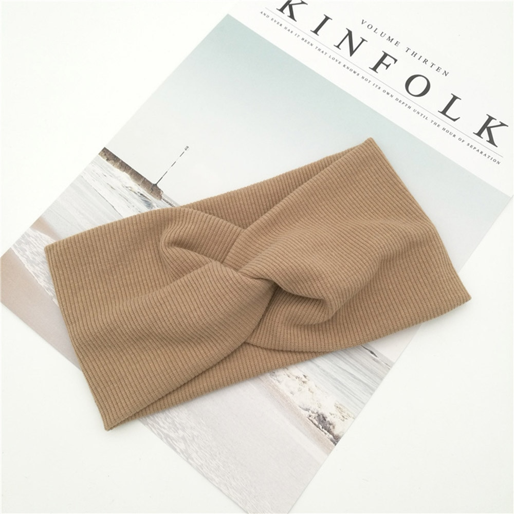Women's Solid Color Cotton Headband