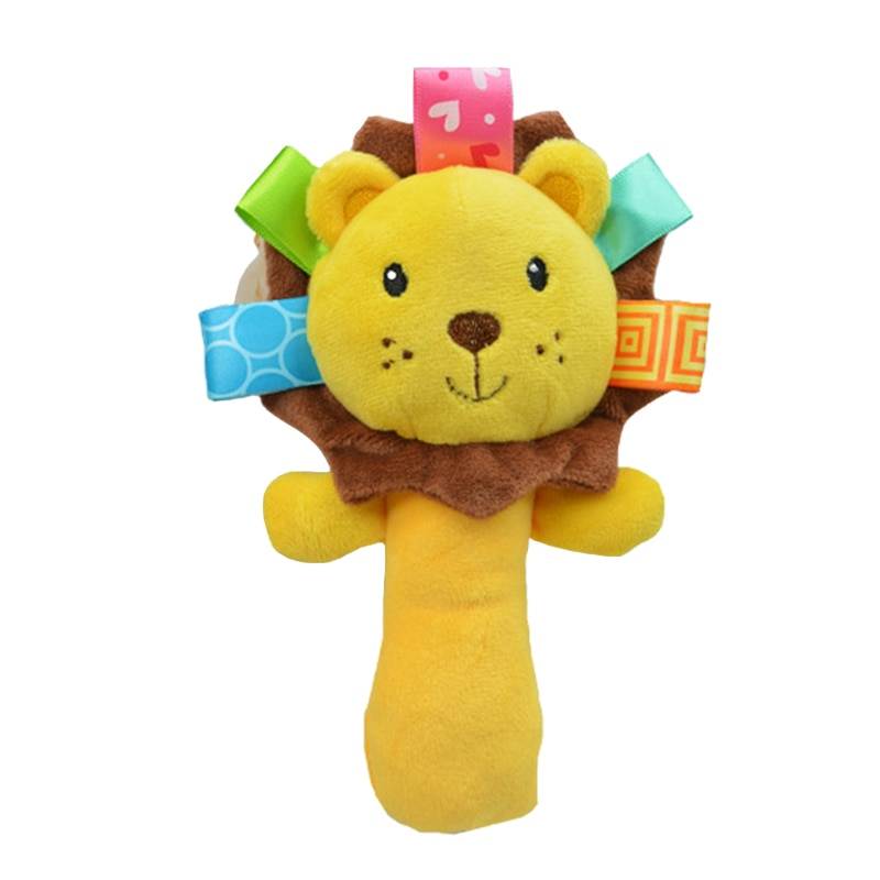 Baby's Animal Shaped Plush Rattle Toy